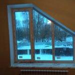 нестандартное пластиковое окно трапецивидной формы фото