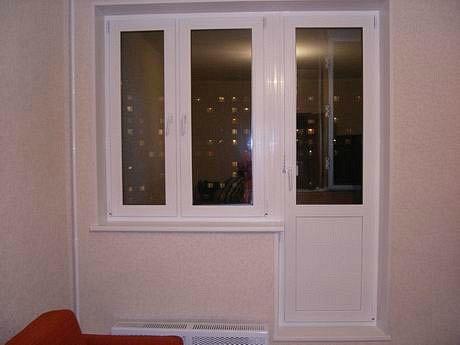 балконный блок с монтажом