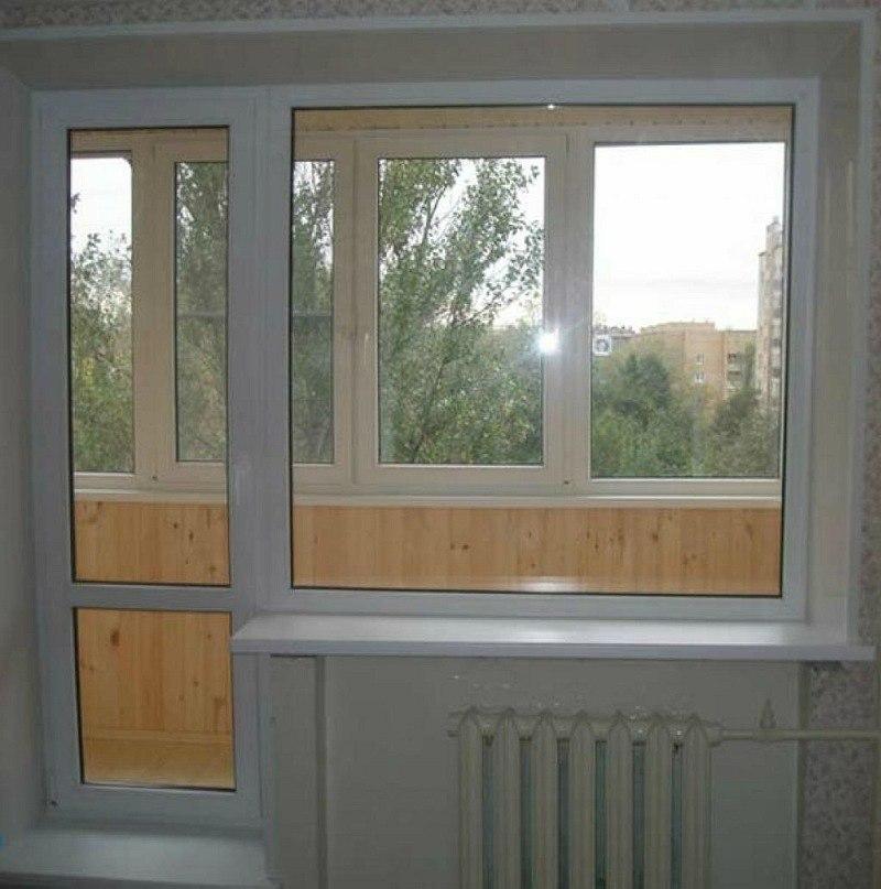 балконный блок с установкой на лоджии