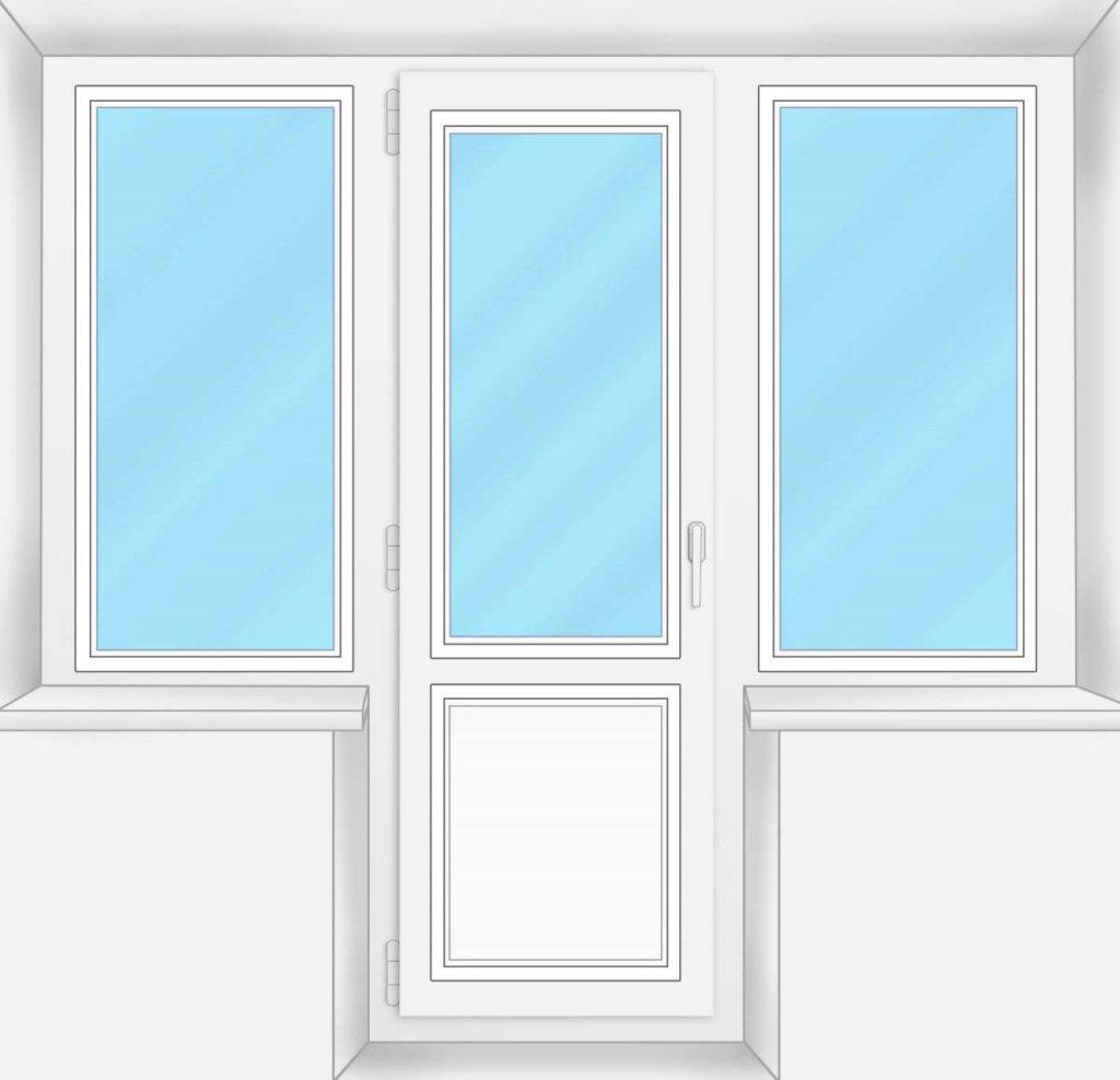 т-образный балконный блок