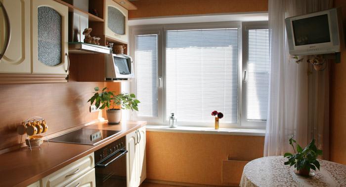 пластиковое окно для кухни